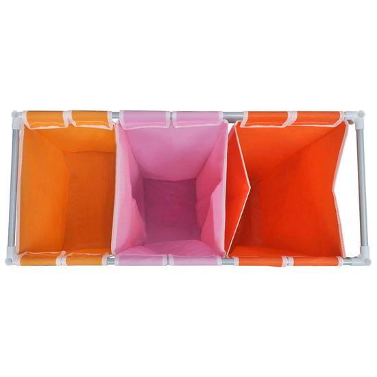 shumee 3-Delni Koš za Sortiranje Perila z Zabojem za Pranje