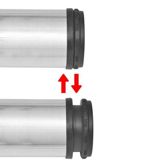 shumee 4 Noge za Mizo Nastavljiva Višina Brušeni Nikenj 870 mm