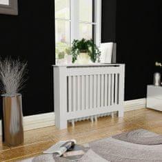 shumee Bílý kryt z MDF na radiátor, 112 cm
