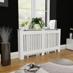 shumee Bílý kryt z MDF na radiátor, 152 cm