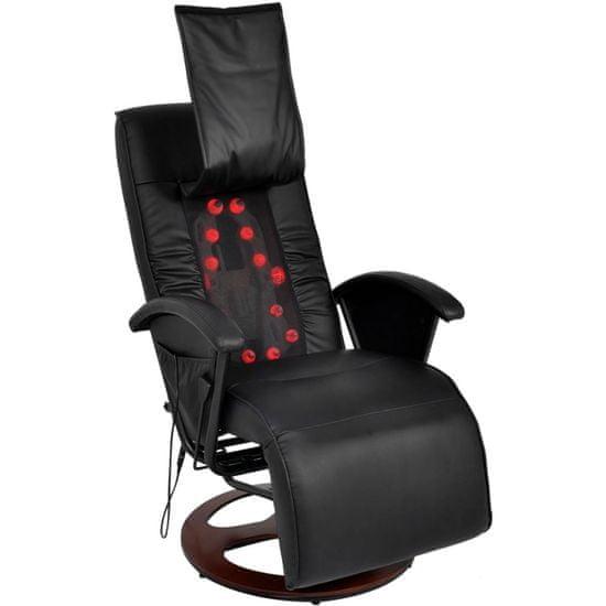 slomart Shiatsu masažni stol črno umetno usnje