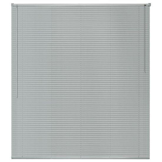 shumee ablakredőny alumínium 140x160 cm ezüst