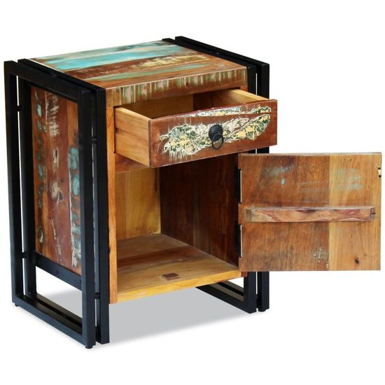 shumee Nočna omarica iz trdnega predelanega lesa