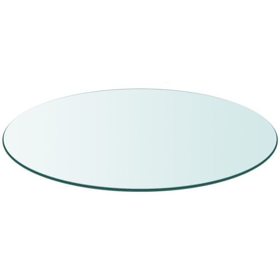 shumee edzett üveg asztallap kerek 700 mm