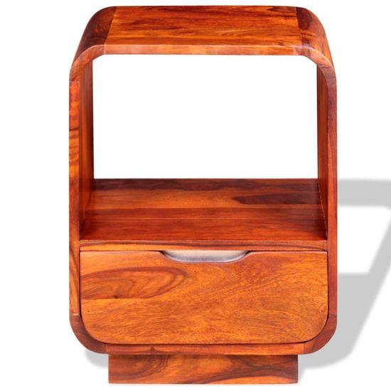 shumee Nočna omarica s predalom 2 kosa masiven palisander 40x30x50cm