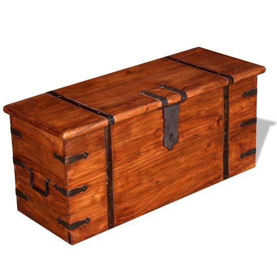 shumee Dve skrinji za shranjevanje iz trdnega lesa