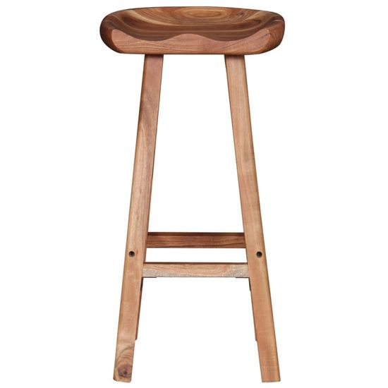 shumee Barski stolčki 2 kosa trden akacijev les