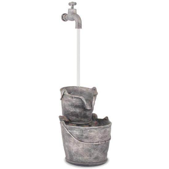 shumee Vodna fontana s pipo in vedroma poliresin