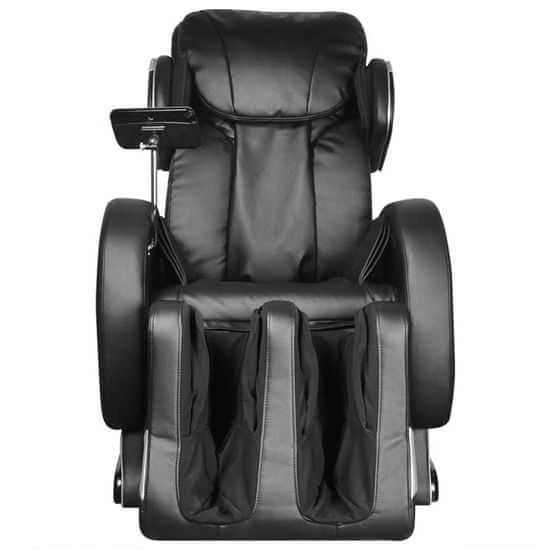 shumee Masažni stol s super zaslonom črno umetno usnje