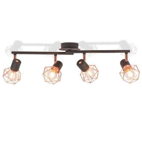 shumee fekete és sárgaréz mennyezeti lámpa 4 spotlámpával E14