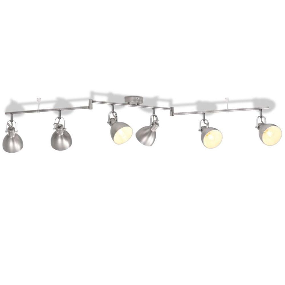 Stropní svítidlo na 6 žárovek E14, šedá