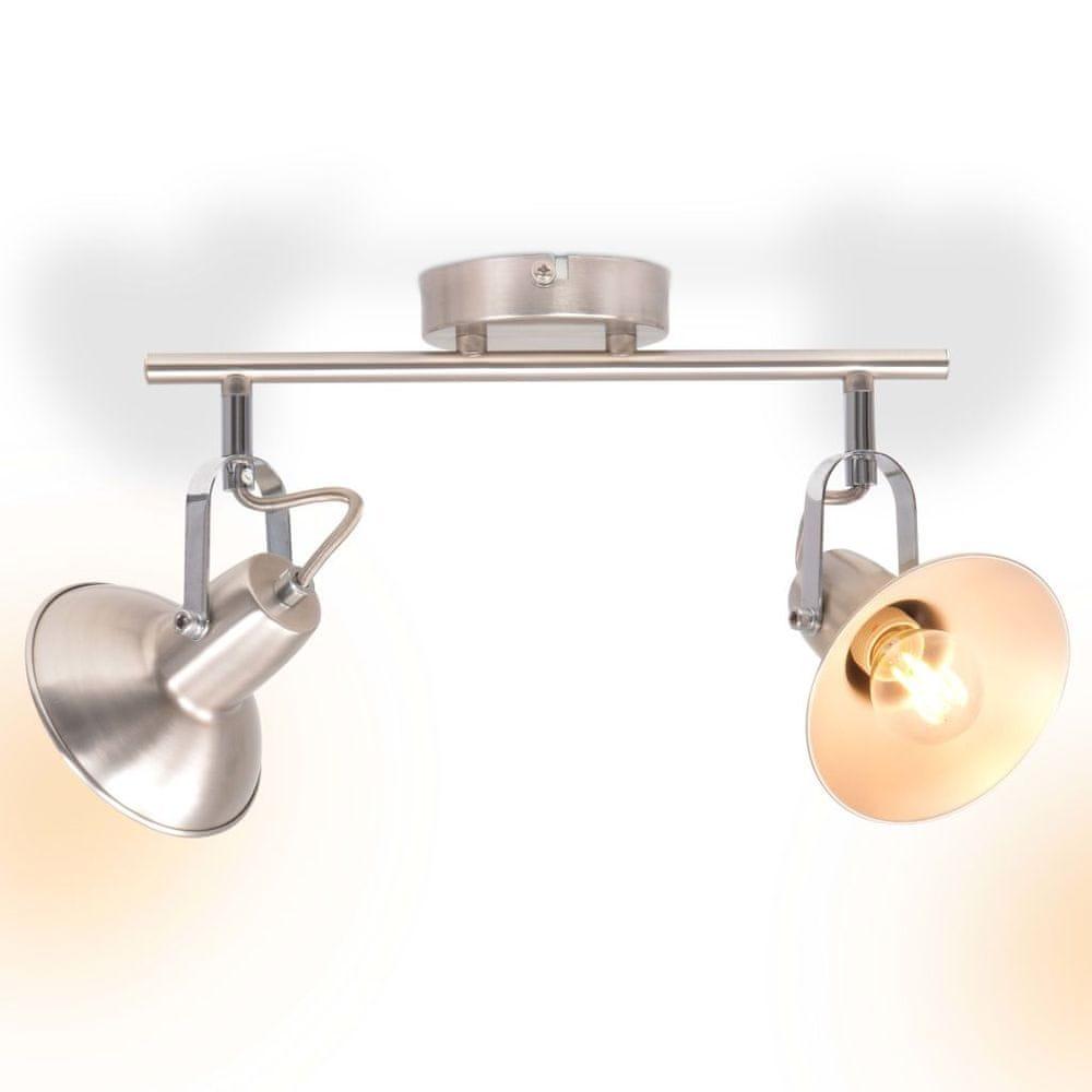 Stropní svítidlo na 2 žárovky E14, stříbrná