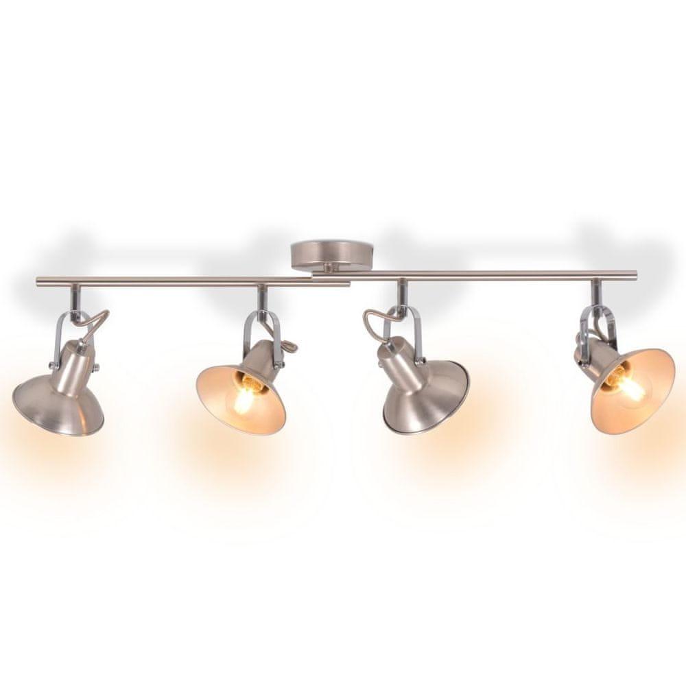 Stropní svítidlo na 4 žárovky E14, stříbrná