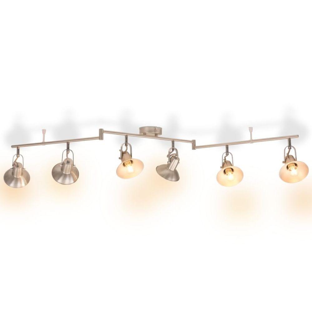 Stropní svítidlo na 6 žárovek E14, stříbrná