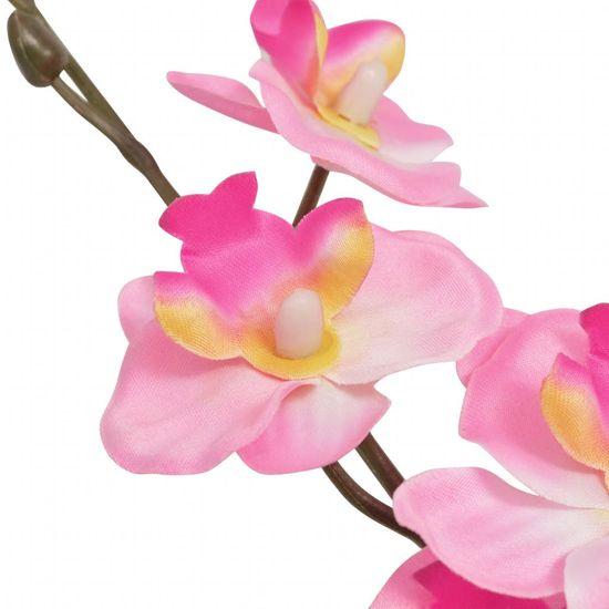 shumee Umetna rastlina orhideja v loncu 30 cm roza