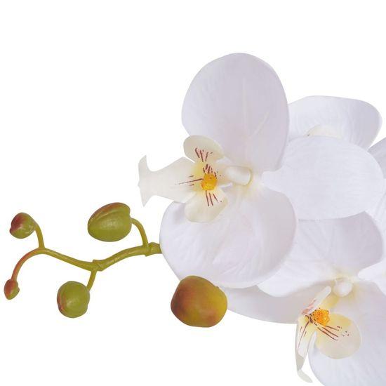 shumee Umetna rastlina orhideja v loncu 65 cm bela
