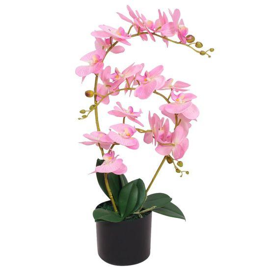 shumee Umetna rastlina orhideja v loncu 65 cm roza