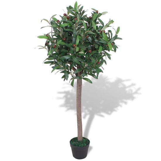 shumee Umetna rastlina lovorjevo drevo v loncu 120 cm zelene barve