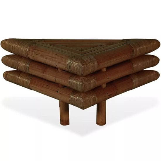 shumee Nočne mizice 2 kosa 60x60x40 cm iz bambusa temno rjave