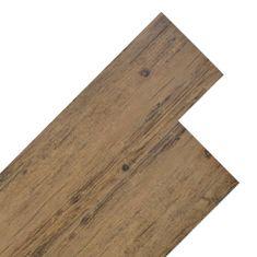 shumee Podlahová krytina PVC 5,26 m² 2 mm ořechově hnědá