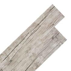 Greatstore Samolepící podlahová krytina PVC 5,02 m² 2 mm dub bělený