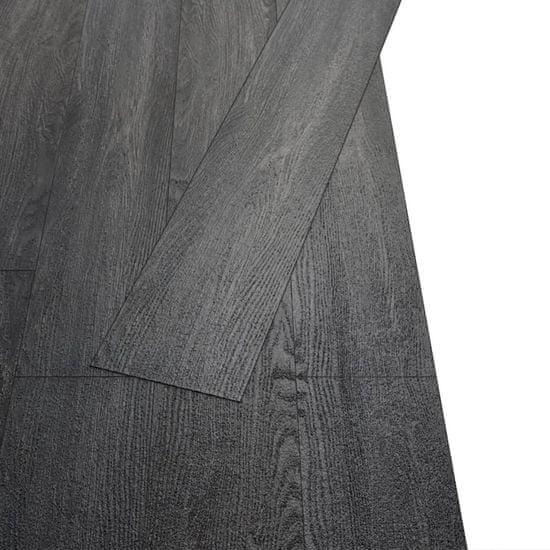 shumee Samolepilne PVC talne plošče 5,02 m² 2 mm črne in bele