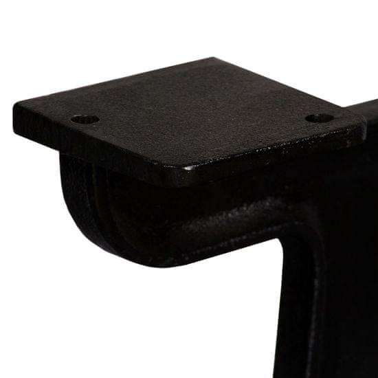 shumee 2 db öntöttvas dohányzóasztal láb Y-alakú vázzal