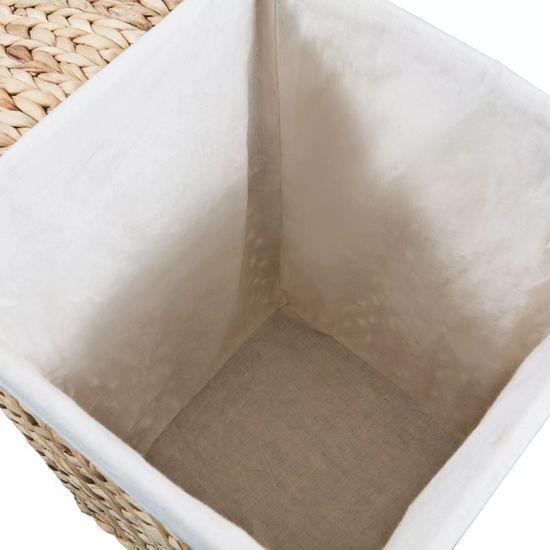 shumee Komplet košar za perilo 2 kosa vodna hiacinta