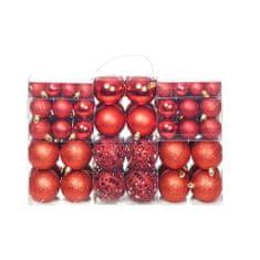 shumee Sada vánočních baněk 100 kusů 6 cm červená