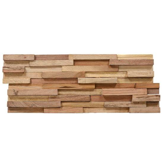 shumee Ścienne panele okładzinowe 3D, 10 szt., drewno tekowe, 1 m²