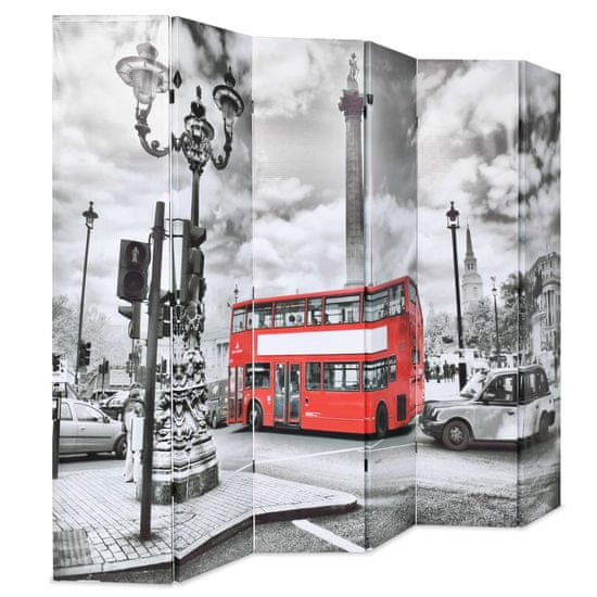 shumee fekete-fehér londoni busz mintás paraván 228 x 170 cm