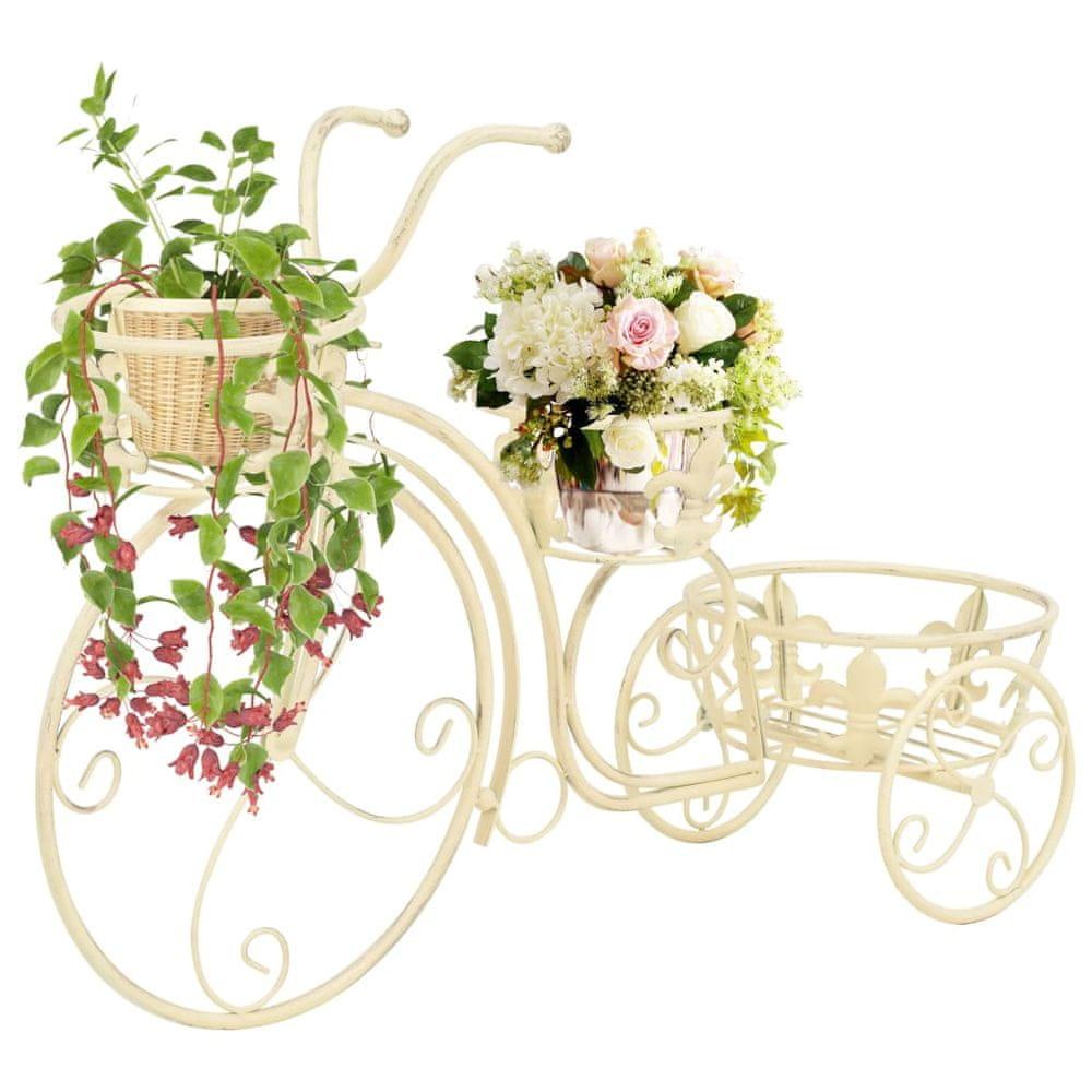 Stojan na květiny ve tvaru jízdního kola vintage styl kovový
