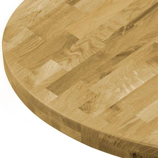 shumee kerek tömör tölgyfa asztallap 44 mm 600 mm