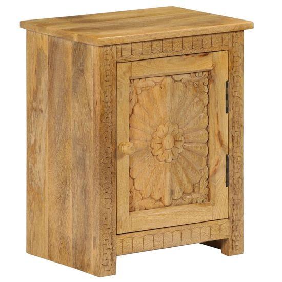 shumee Nočný stolík z masívneho mangovníkového dreva 40x30x50 cm