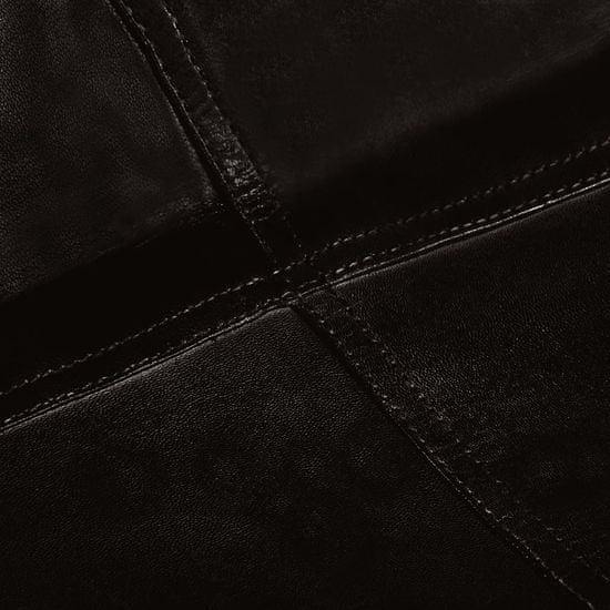 shumee fekete gyerekméretű valódi bőr pillangószék
