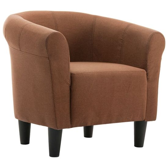 slomart Fotelj iz rjavega blaga