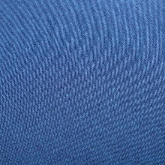 shumee 2-részes kék szövet fotel- és lábzsámolyszett