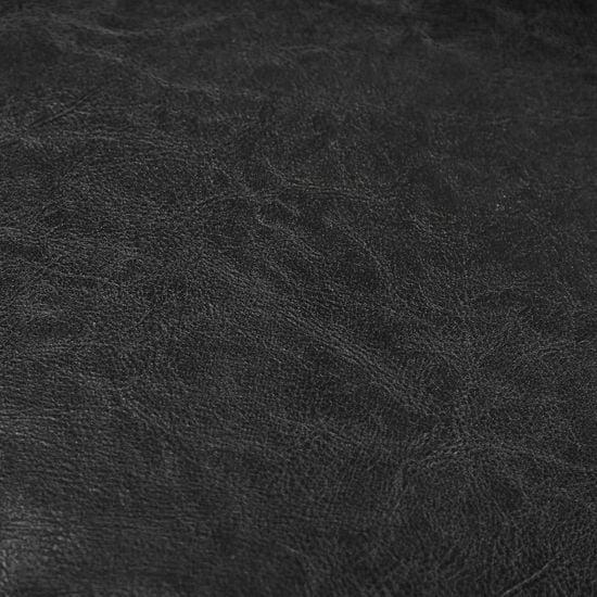 slomart Tubast stol iz črnega umetnega usnja