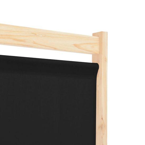shumee Parawan 3-panelowy, czarny, 120x170x4 cm, tkanina