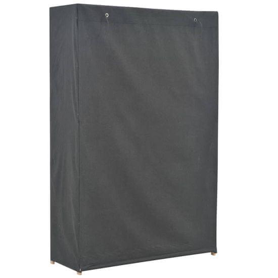 shumee Garderobna omara 110x40x170 cm sivo blago