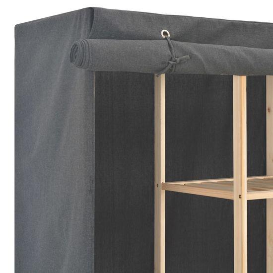 shumee Garderobna omara iz blaga 173x40x170 cm siva