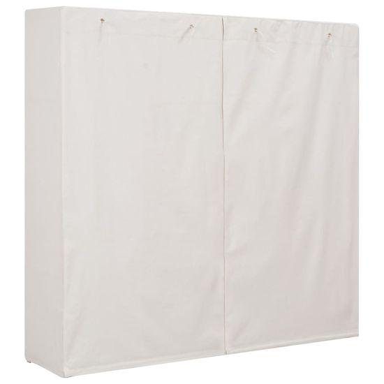 shumee Szafa, biała, 173x40x170 cm, materiałowa
