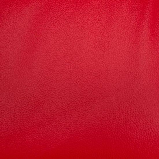 shumee Rozkładany fotel z podnóżkiem, czerwony, sztuczna skóra