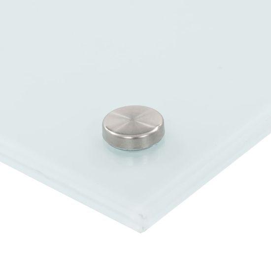 shumee Kuhinjska zaščitna obloga bela 80x40 cm kaljeno steklo