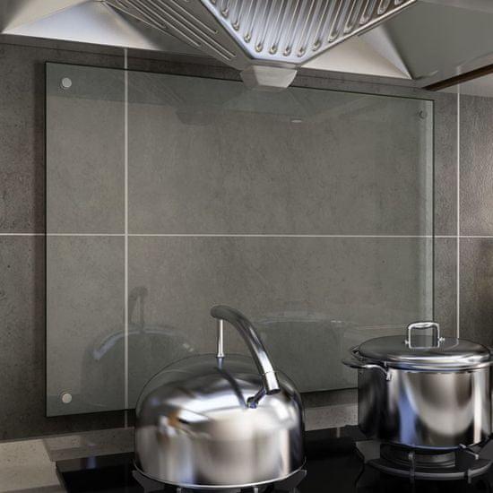 shumee Kuchyňský panel průhledný 80 x 60 cm tvrzené sklo