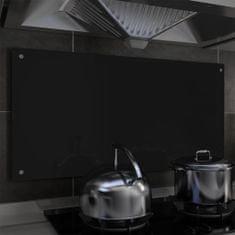 shumee Kuchyňský panel černý 100 x 50 cm tvrzené sklo
