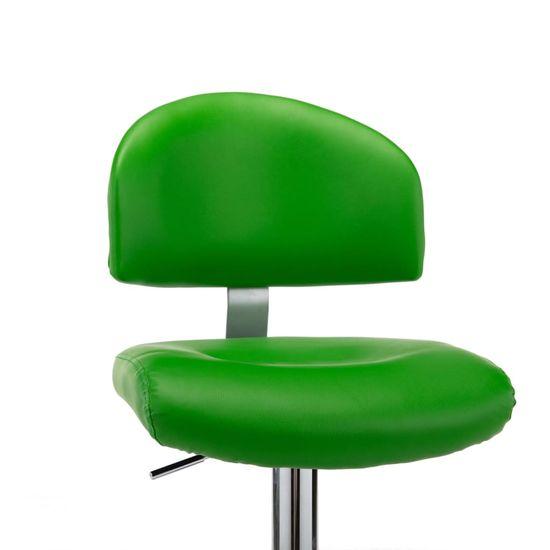 shumee Barové stoličky 2 ks, zelené, umelá koža