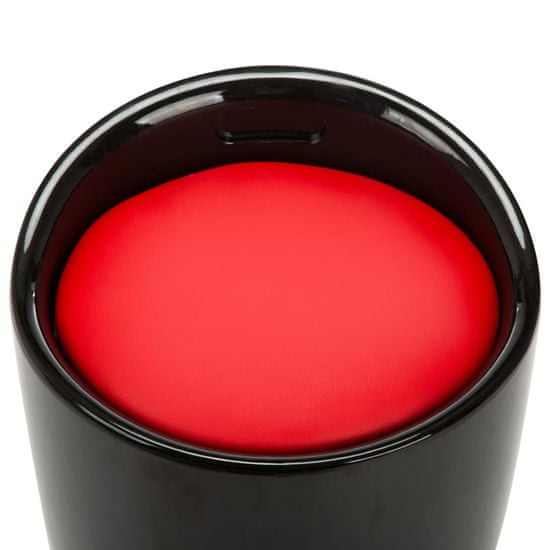 shumee fekete és piros műbőr tárolóülőke