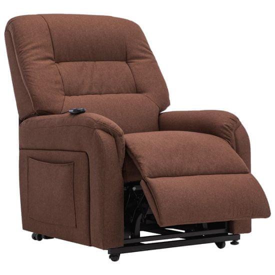 shumee barna dönthető/emelhető elektromos szövet TV-fotel