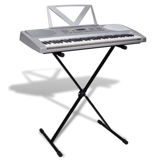 shumee Elektronický keyboard so 61 klávesami, stojan na noty+klávesový stojan